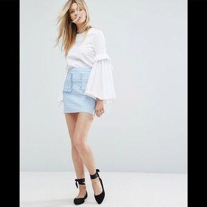 Preloved ASOS Blue Check Mini Skirt